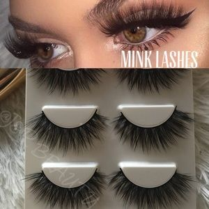 Other - Mink lashes 3 Pairs+ Clear Glue